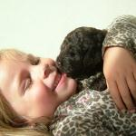 labradoodle with kids